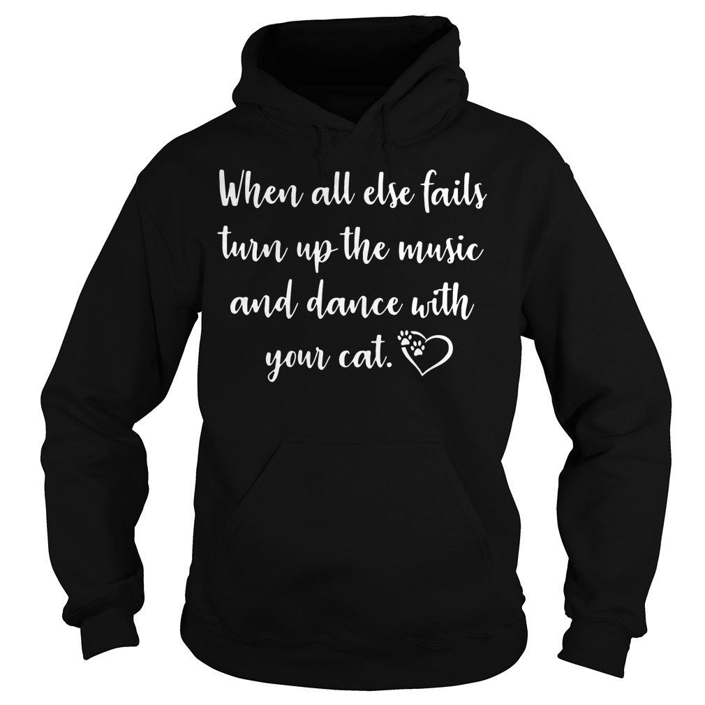 When all else fails turn up the music and dance with your cat Hoodie