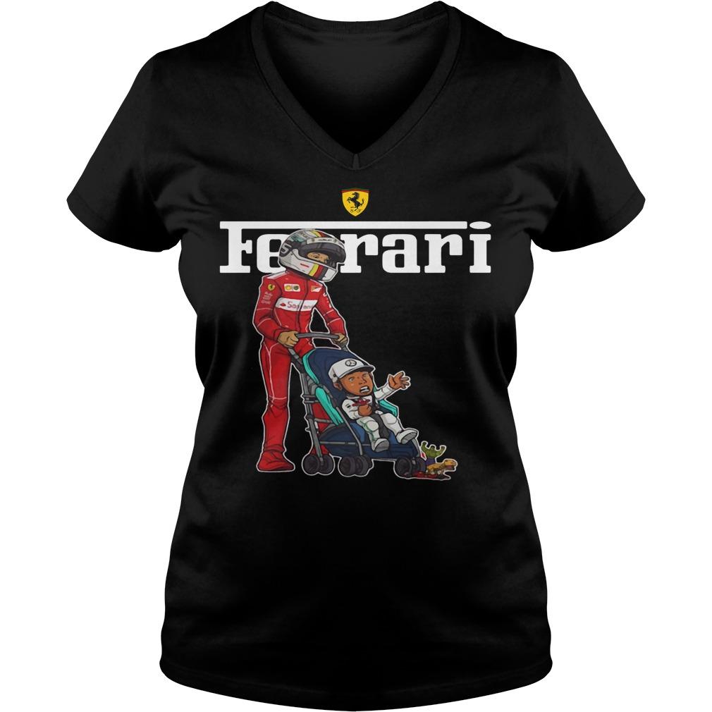 Ferrari F1 Crybaby V-neck T- shirt