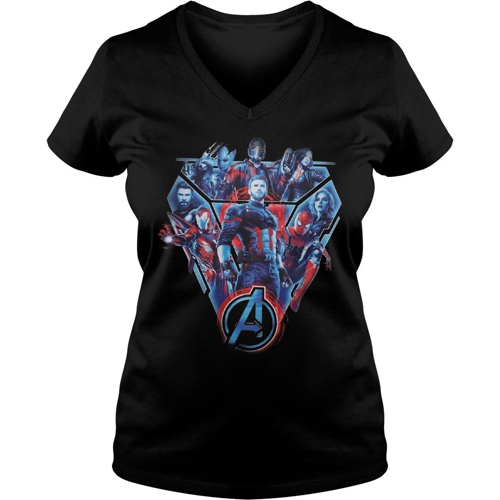 Fighters of the Marvel Avenger Infinity War V-neck T-shirt