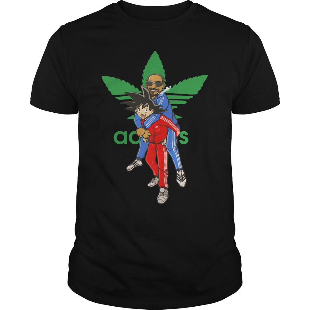Goku and Snoop Dogg Adidas shirt