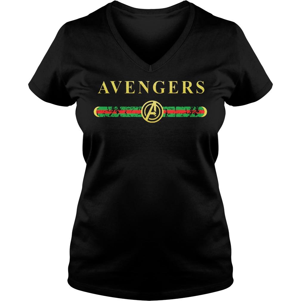 Gucci Avengers V-neck t-shirt