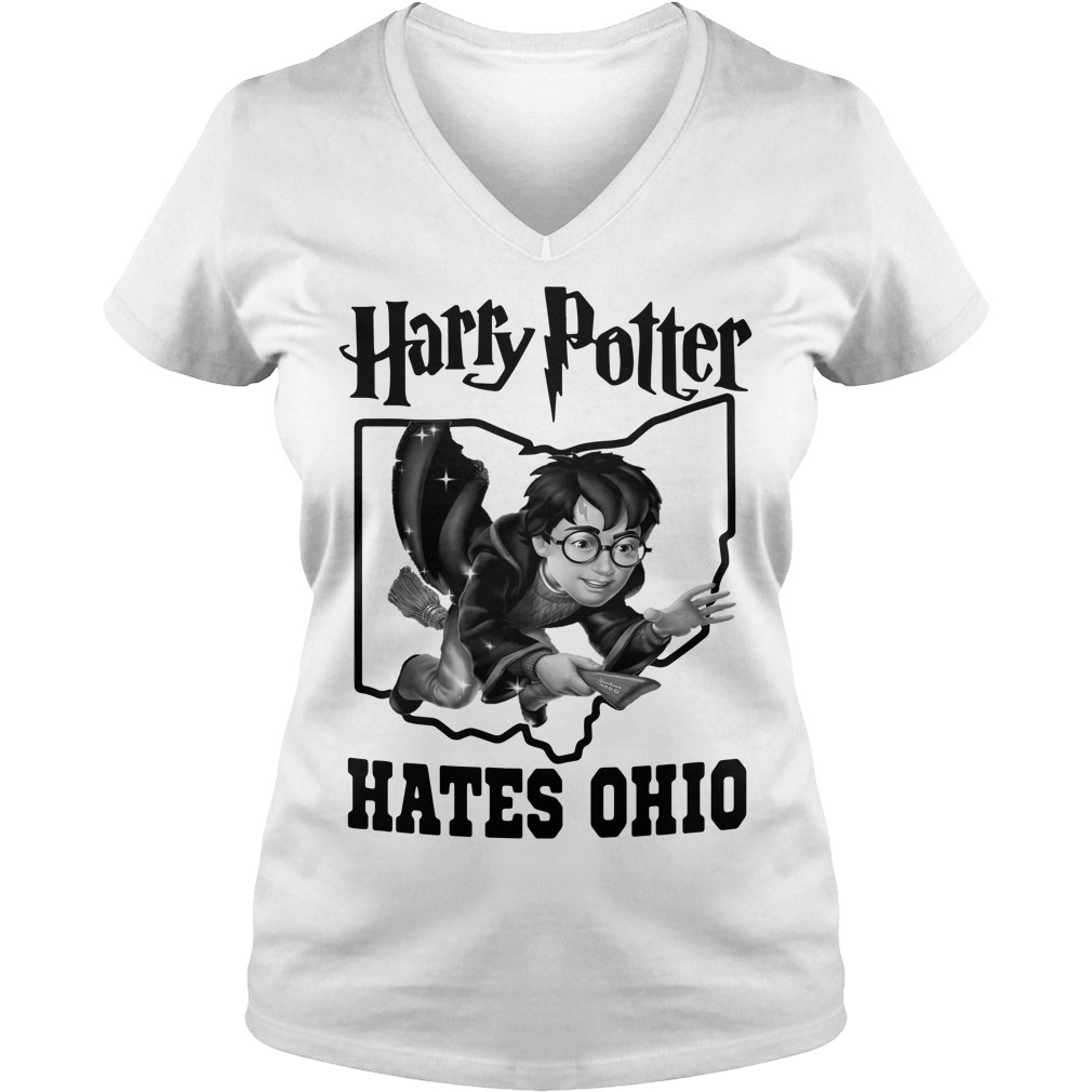 Harry Potter hates Ohio V-neck T-shirt