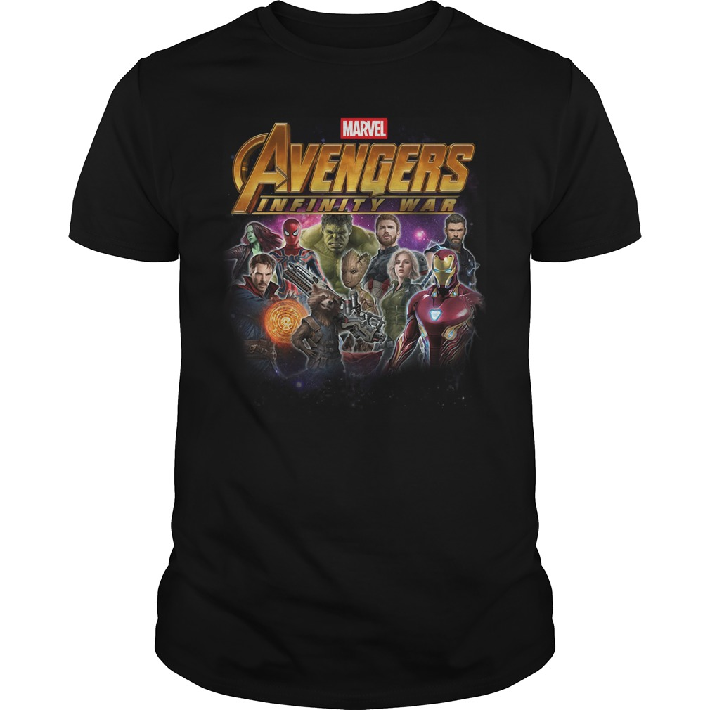 Heroes of the Marvel Avengers Infinity War shirt