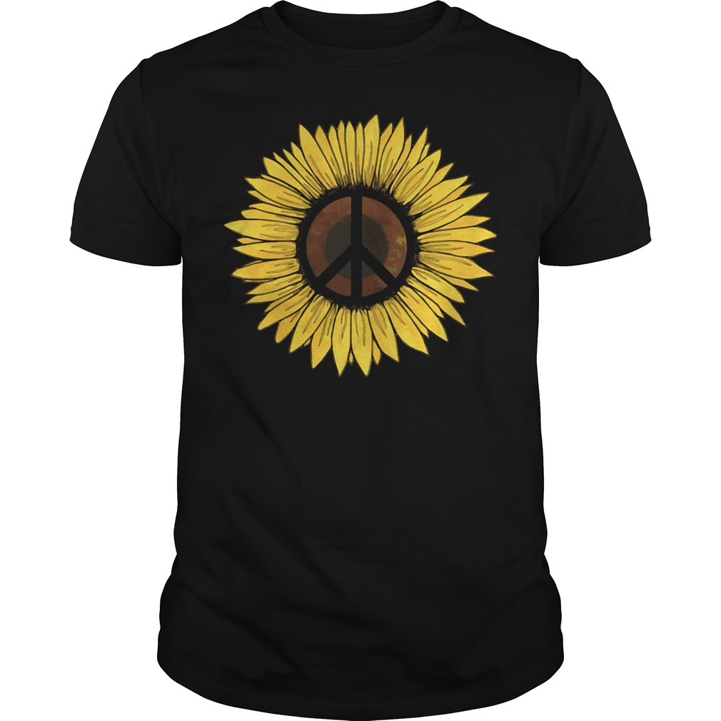 Hippie Sunflower Peace Guys shirt