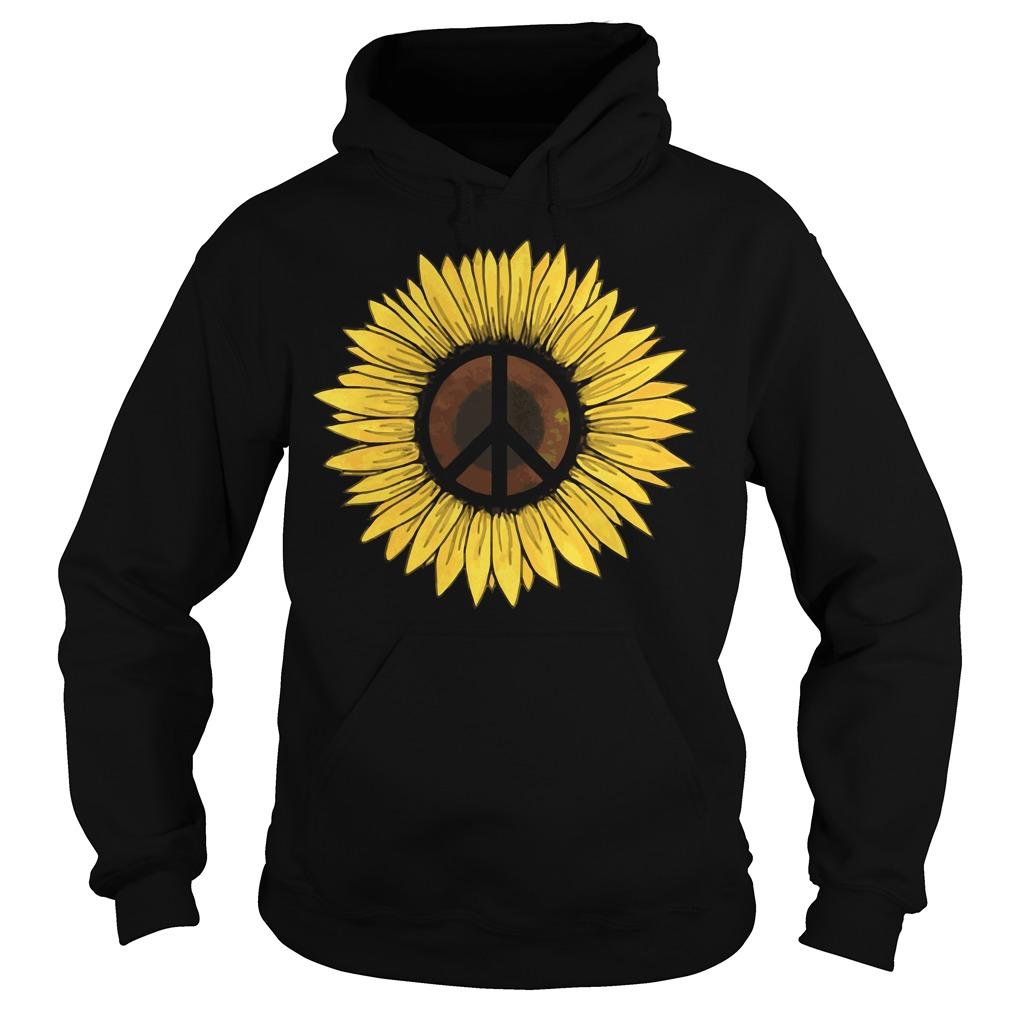 Hippie Sunflower Peace Hoodie