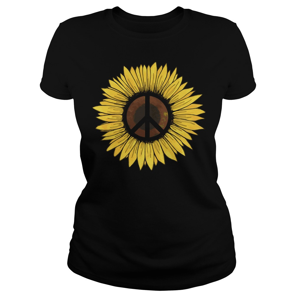 Hippie Sunflower Peace shirt