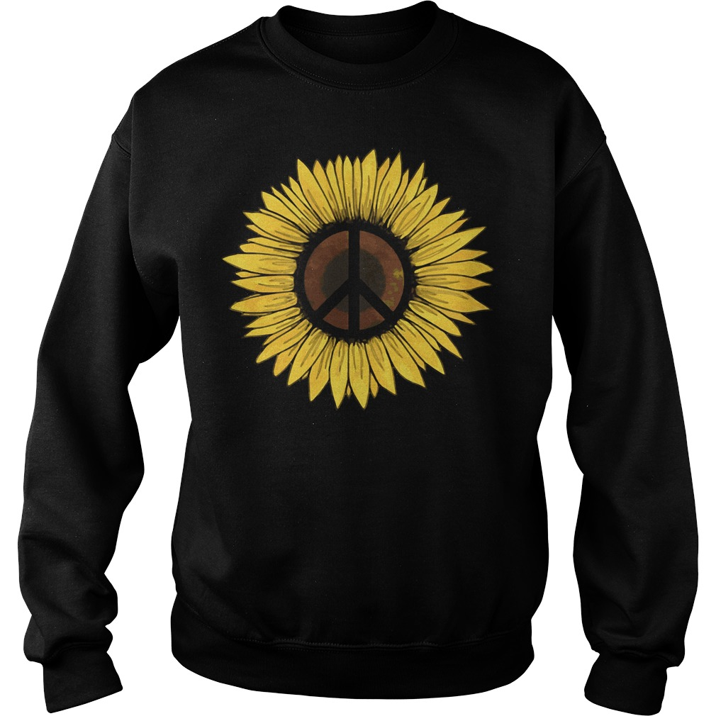 Hippie Sunflower Peace Sweater