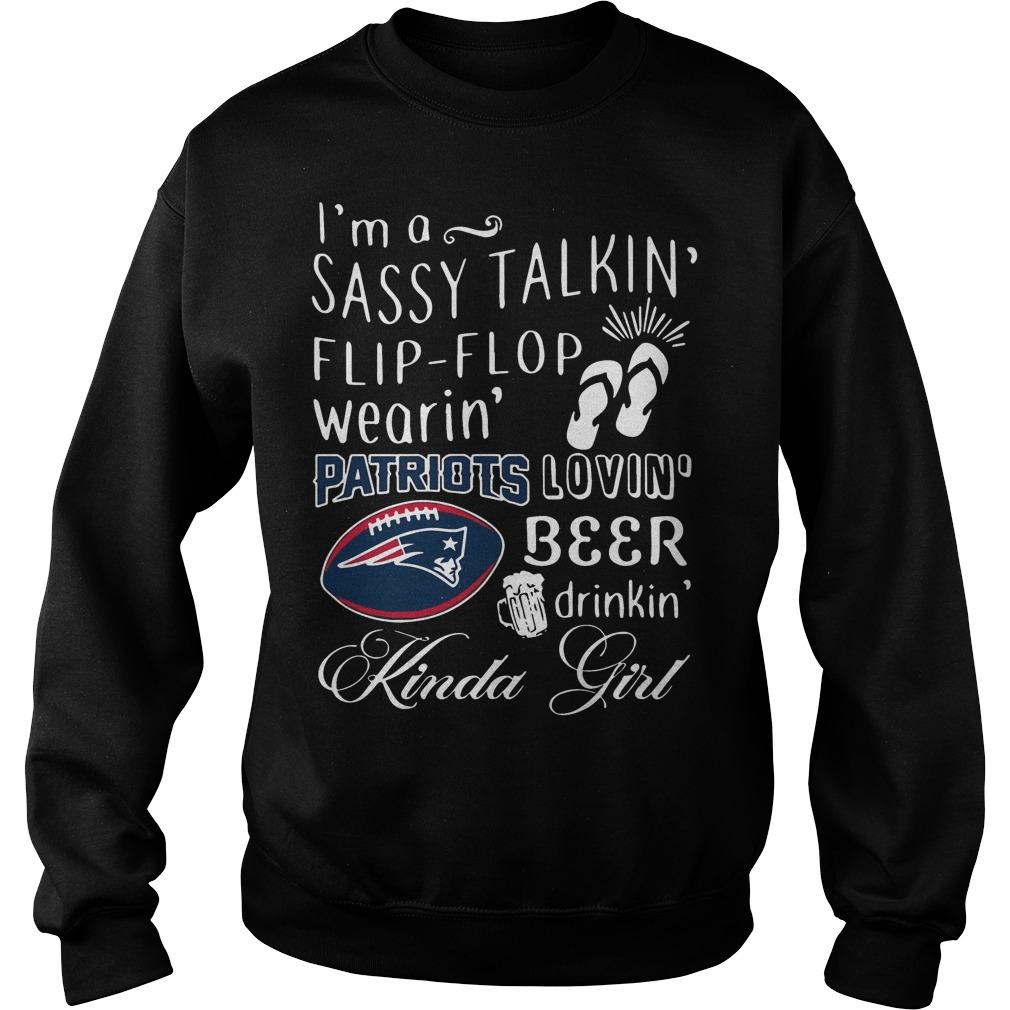 I'm a sassy talkin' flip flop wearin' Patriots lovin' beer Sweater