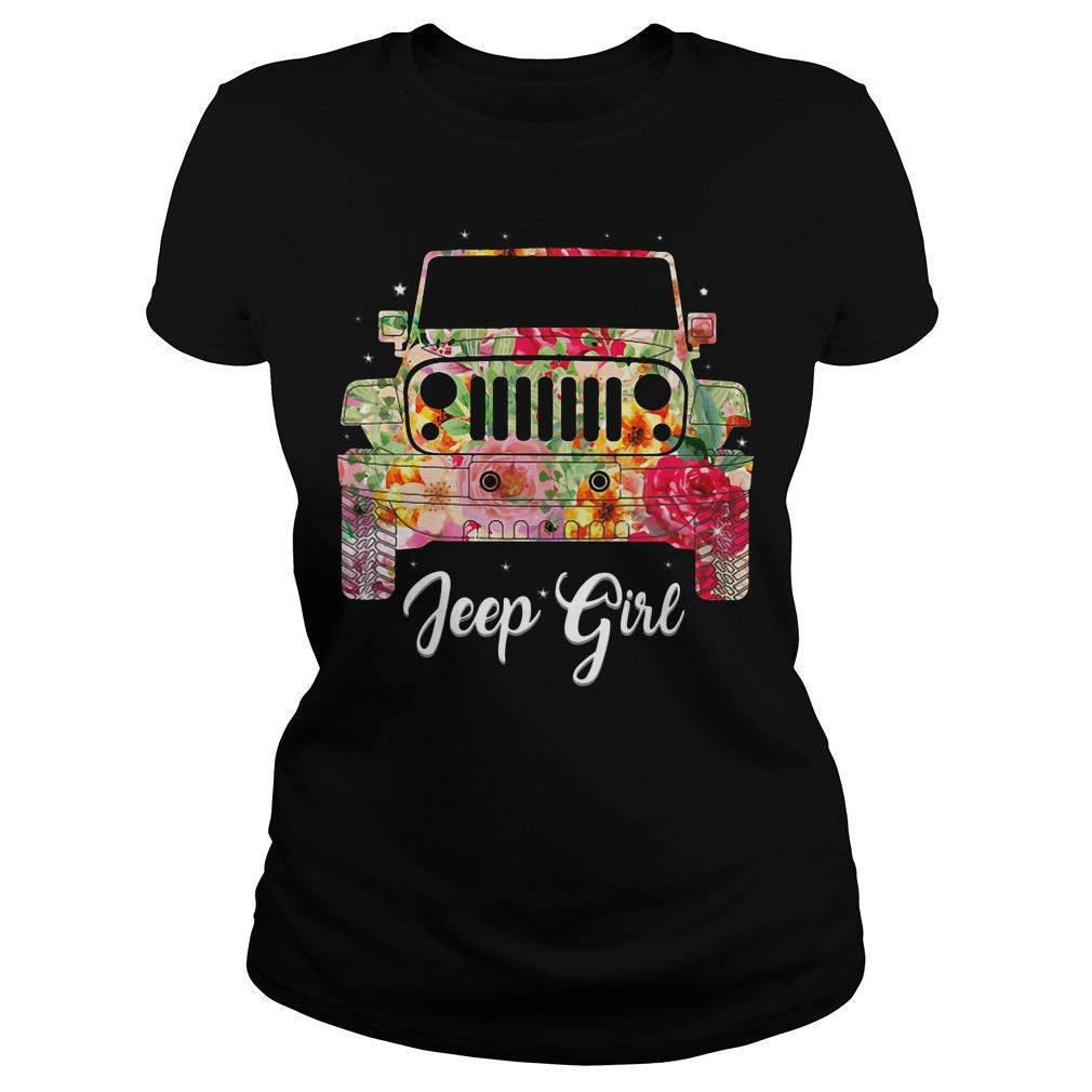 Jeep flower girl shirt