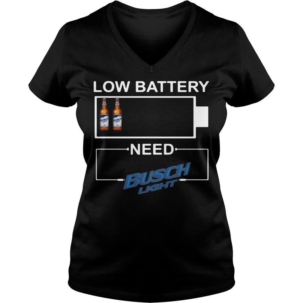 Low Battery need Busch Light V-neck T-shirt