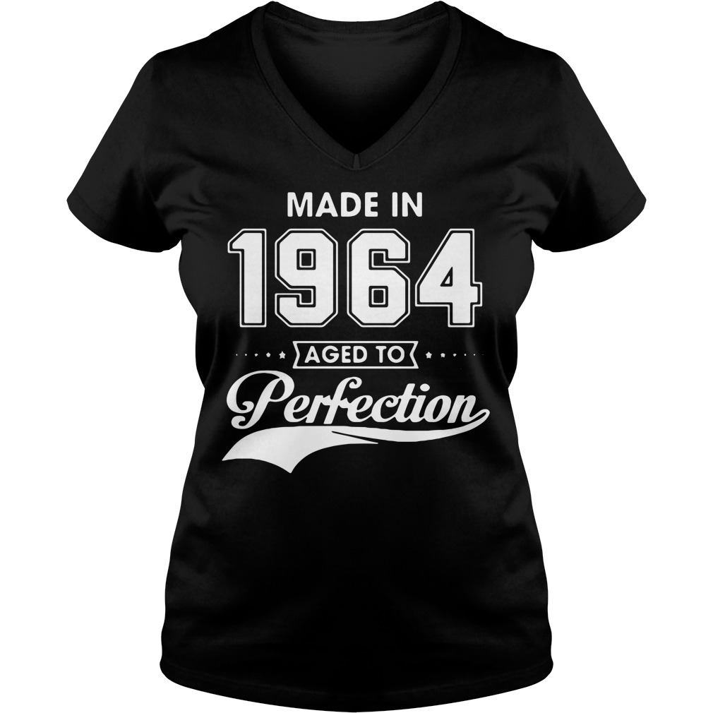Made in 1964 aged to perfection V-neck t-shirt