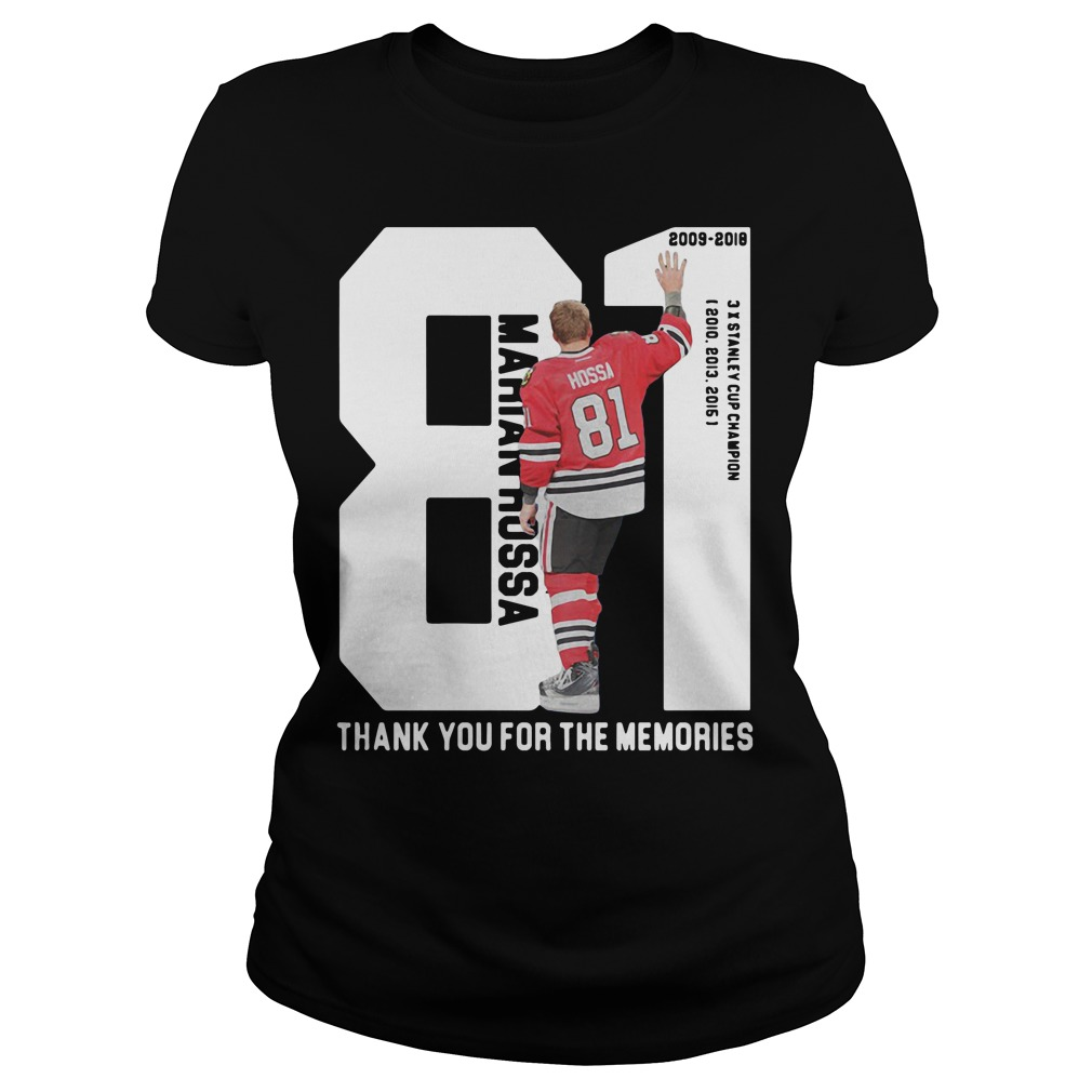 Marian Hossa 81: Thank You For The Memories Ladies tee