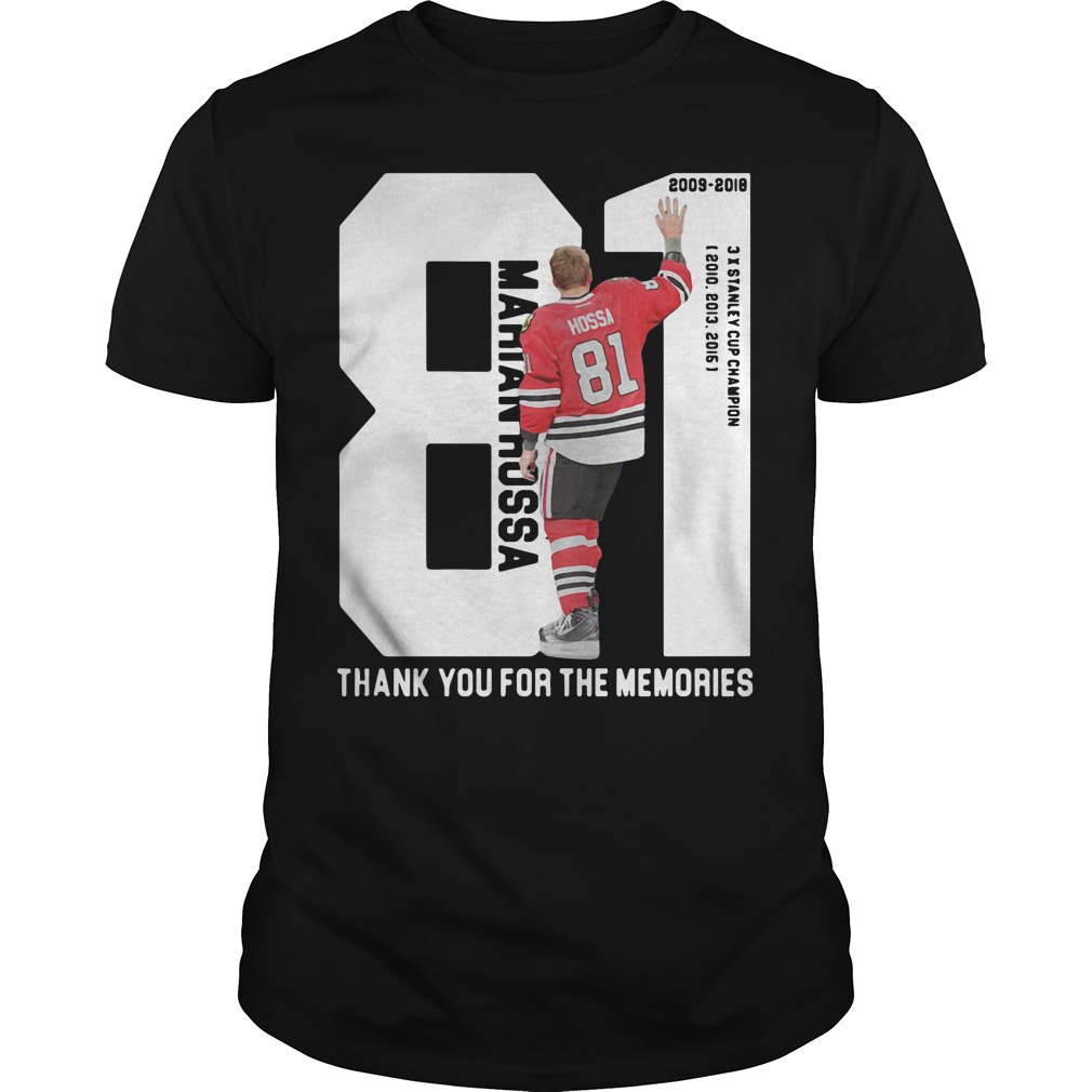 Marian Hossa 81: Thank You For The Memories shirt