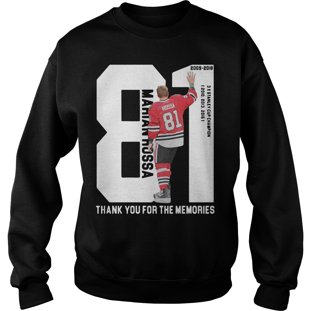 Marian Hossa 81: Thank You For The Memories Sweater
