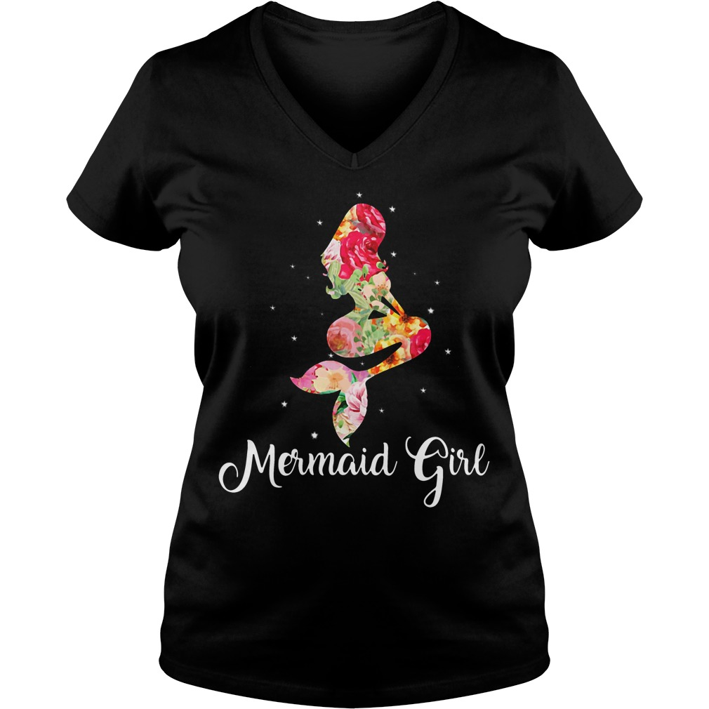Mermaid girl V-neck t-shirt