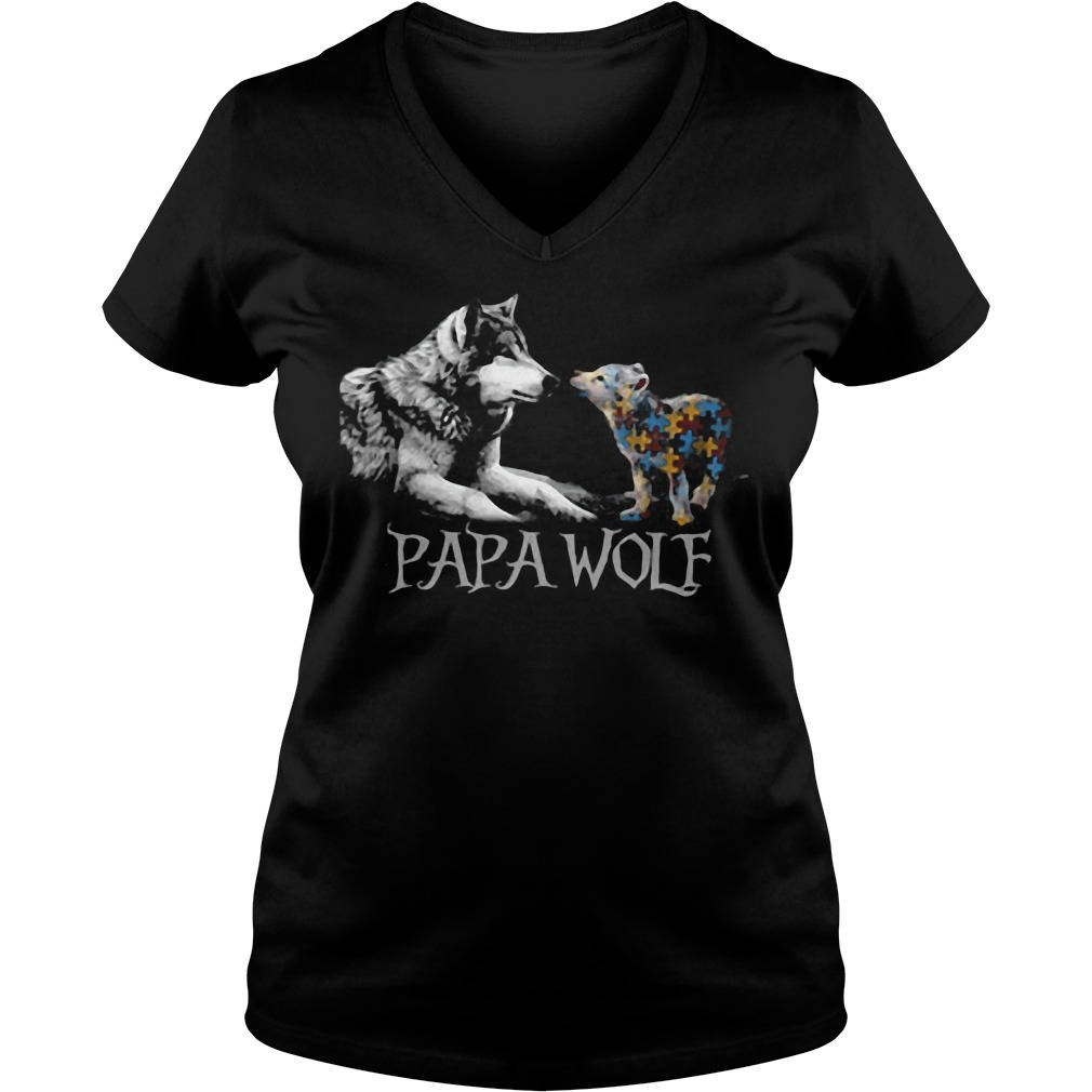 Papa Wolf V-neck t-shirt