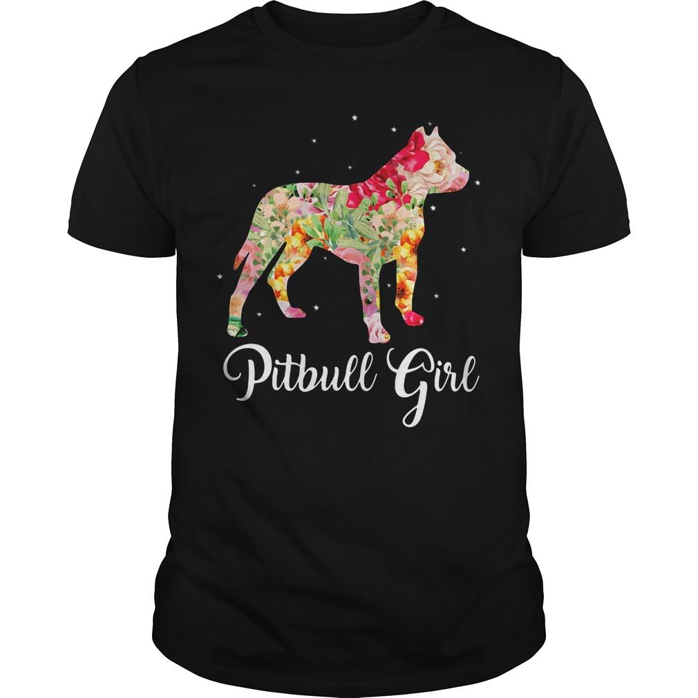 Pitbull girl Guys shirt