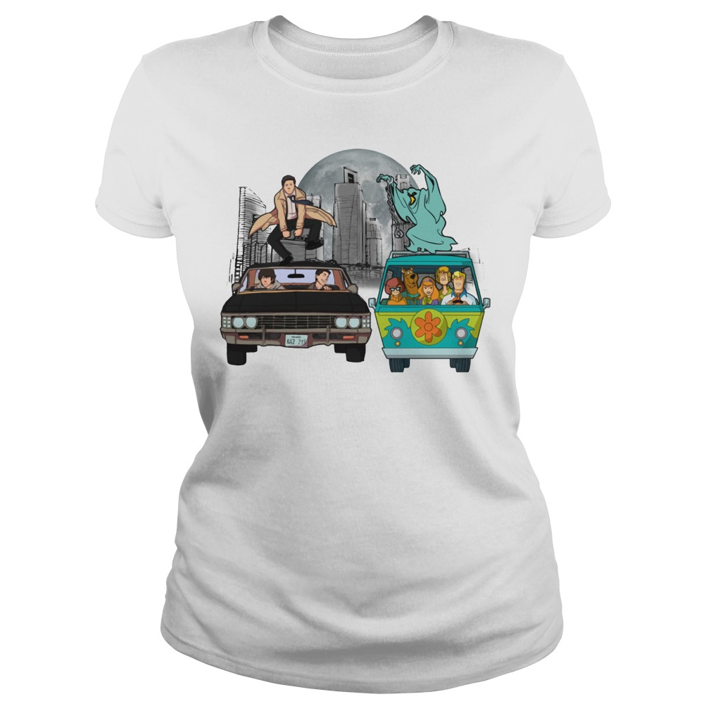 Supernatural and Scooby Doo: Scooby gangs natural Ladies tee