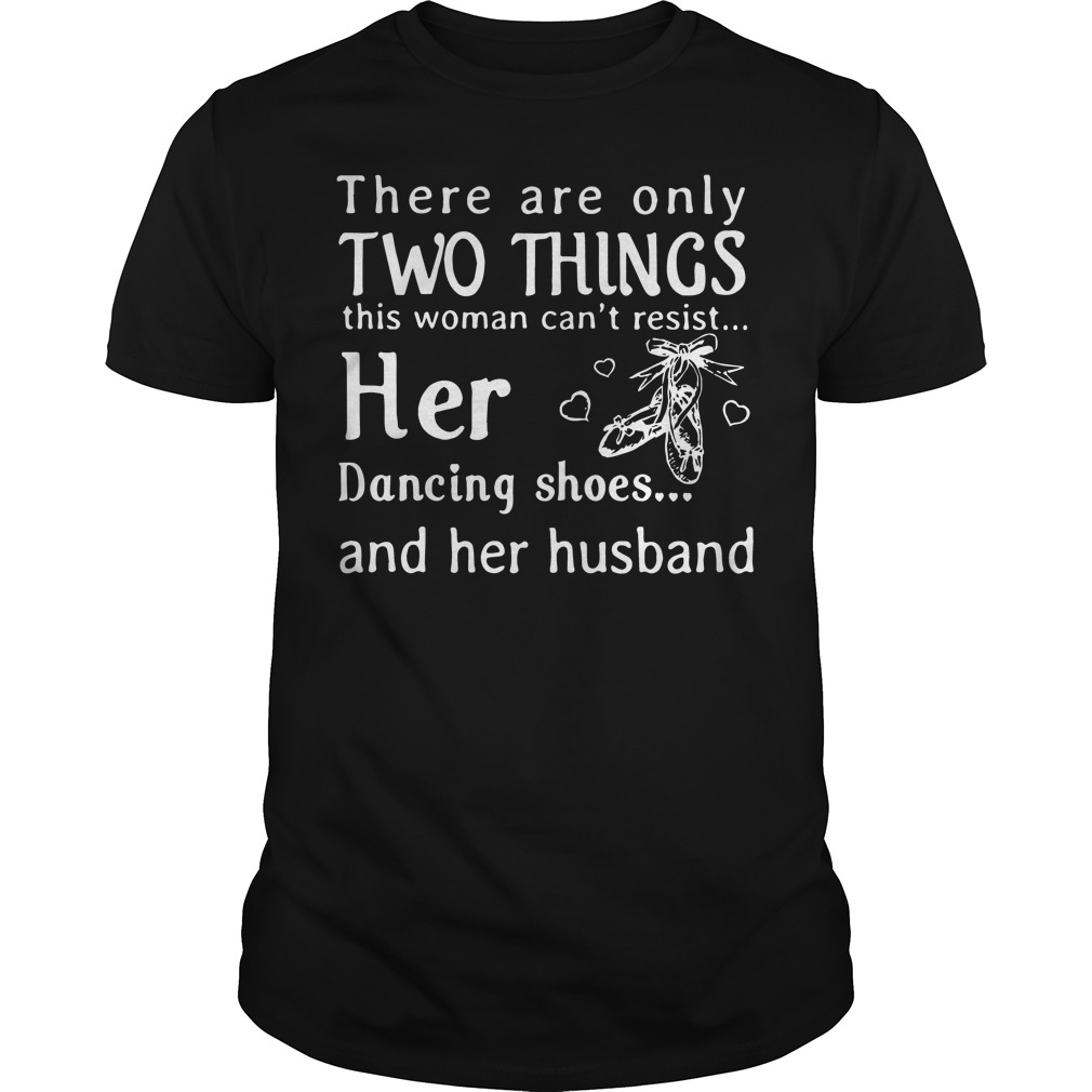 There are only two things this woman can't resist her Guys shirt