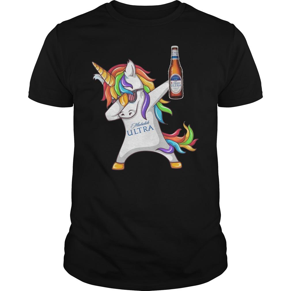 Unicorn Dabbing Michelob Ultra shirt