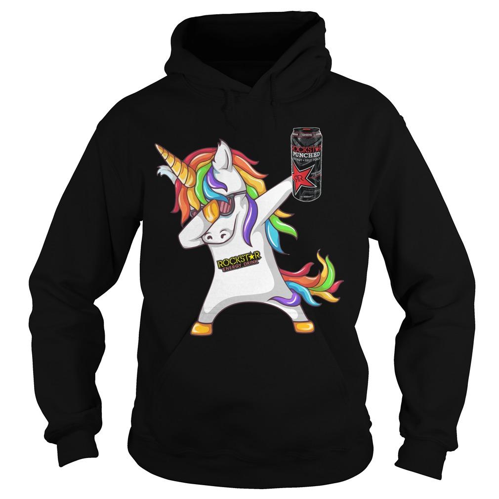 2018 Unicorn Dabbing Rockstar Energy Drink Hoodie