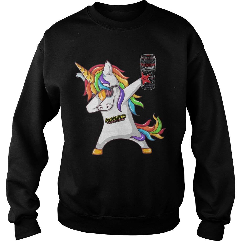 Unicorn Dabbing Rockstar Energy Drink Sweater