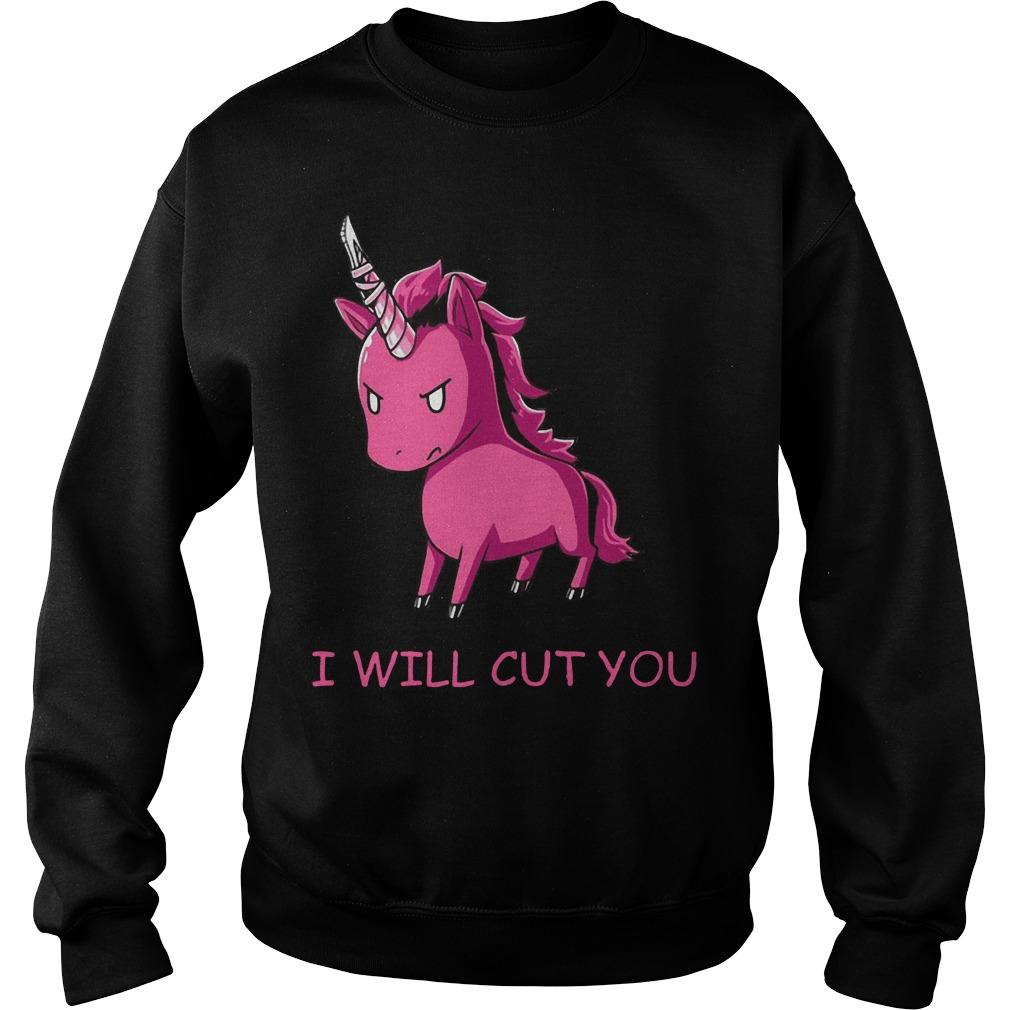 Unicorn I will cut you Sweater