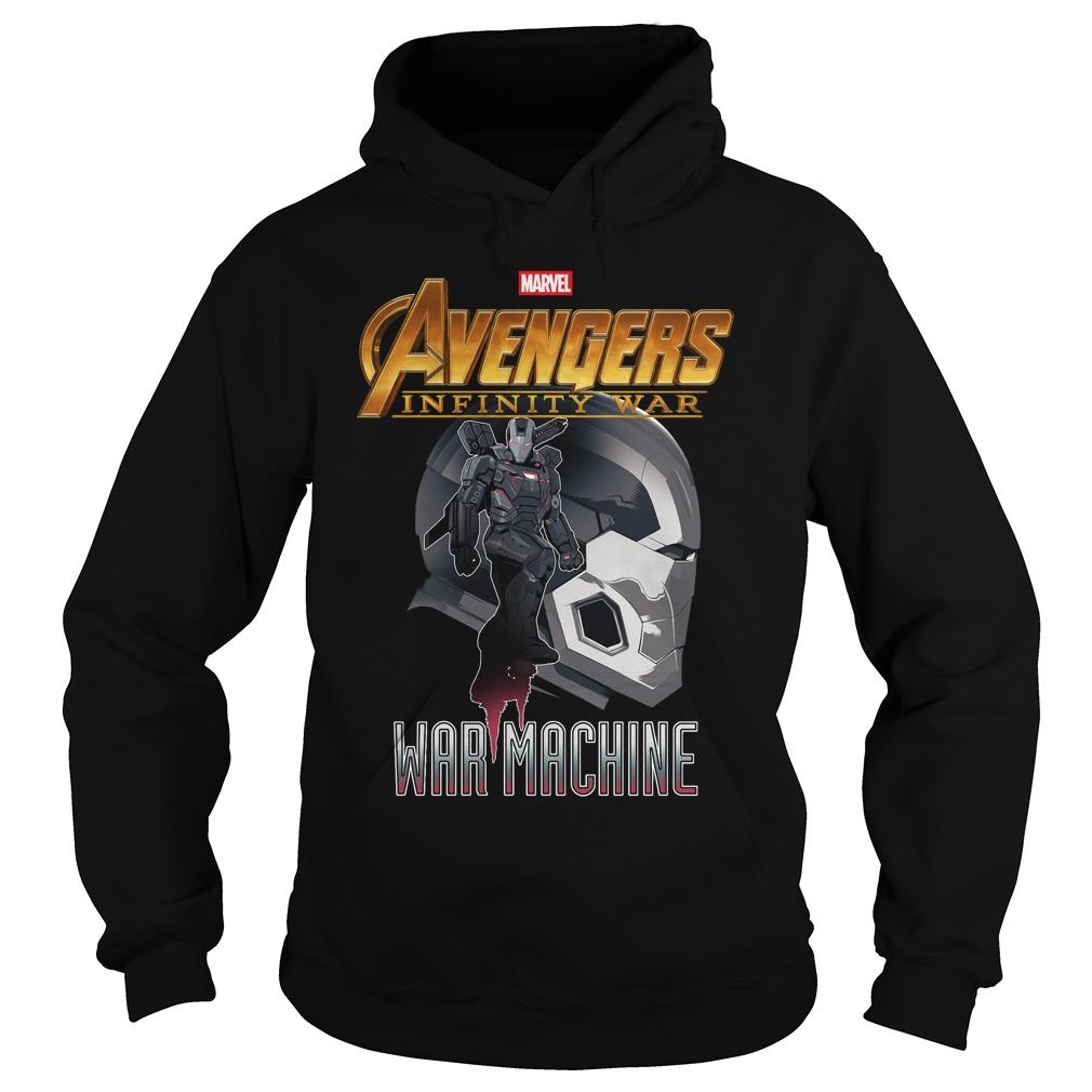 War Machine Profile Marvel Avenger Infinity War Hoodie