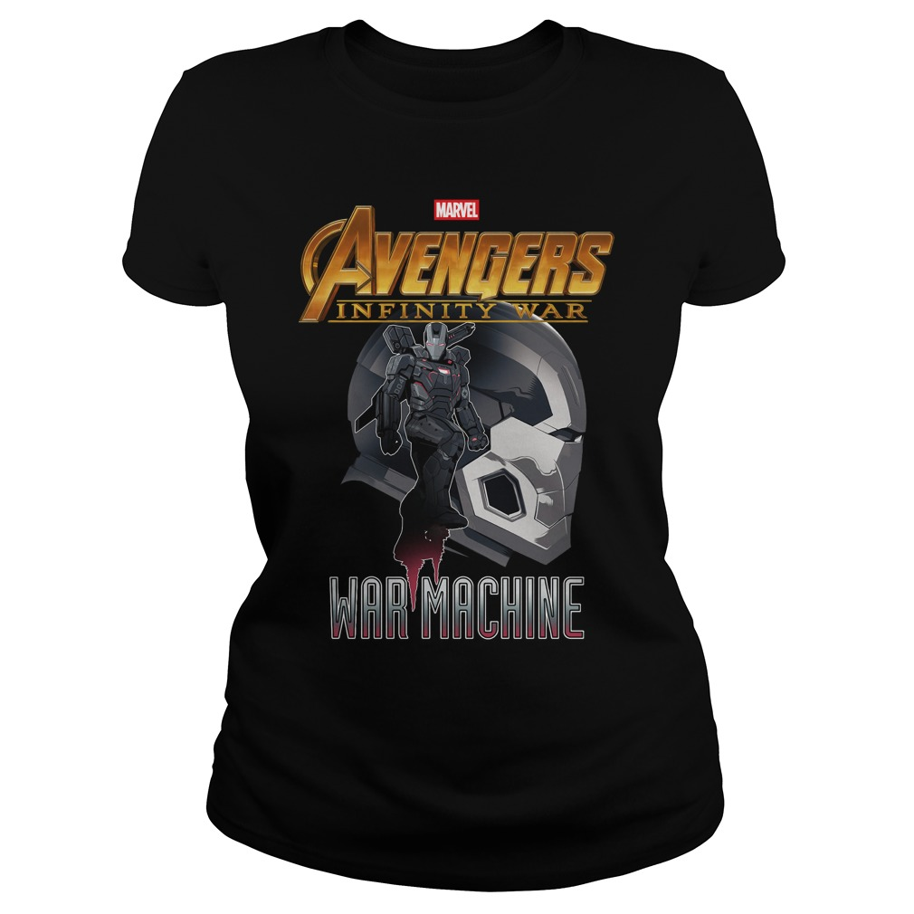 War Machine Profile Marvel Avenger Infinity War Ladies tee