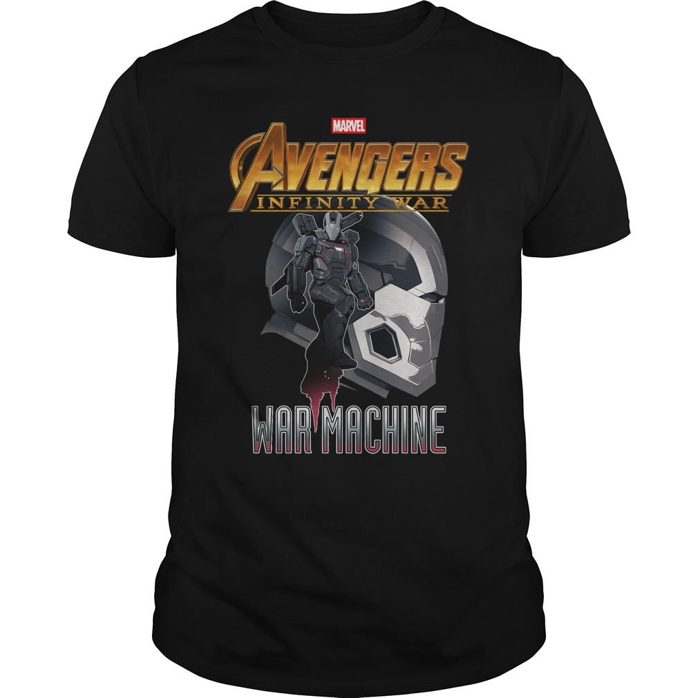War Machine Profile Marvel Avenger Infinity War shirt