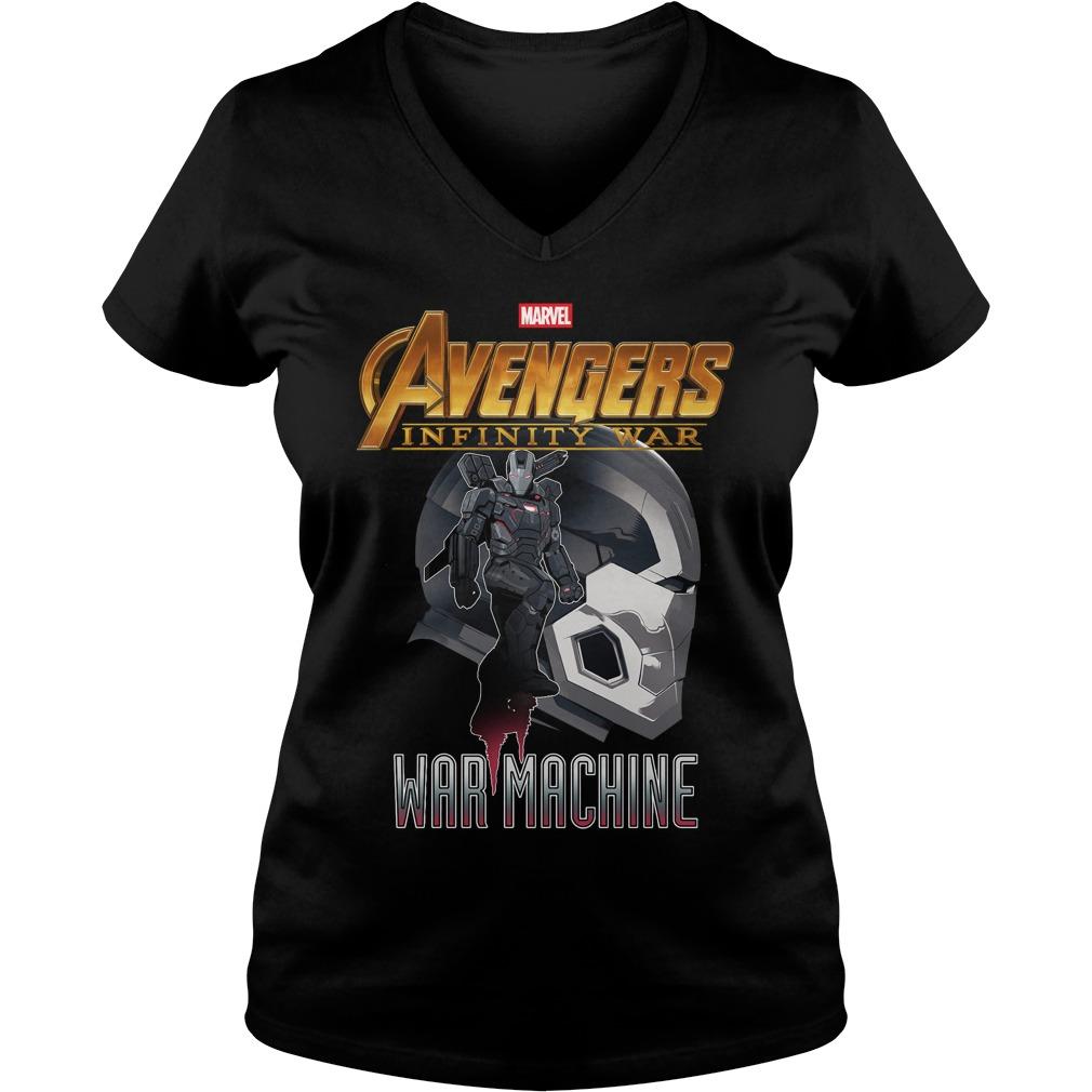 War Machine Profile Marvel Avenger Infinity War V-neck t-shirt