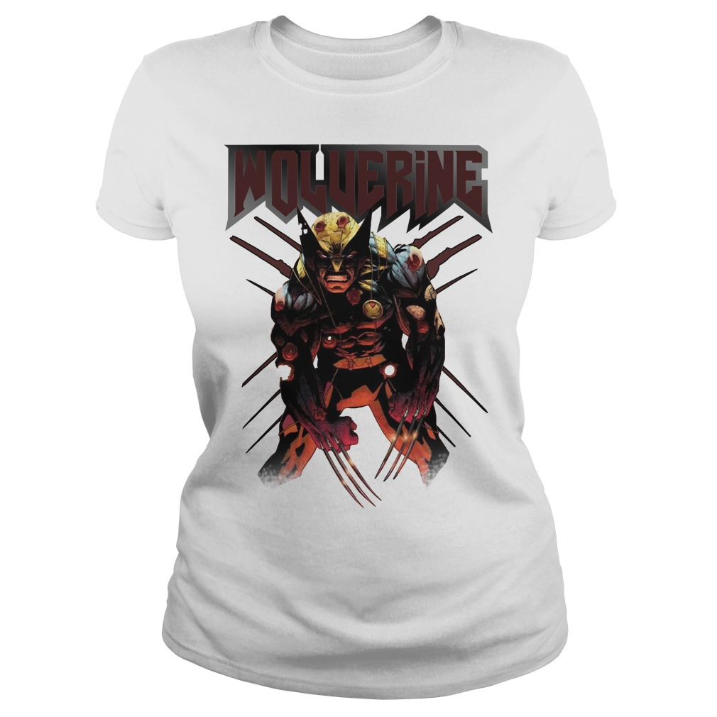 Wolverine Attacks Ladies tee