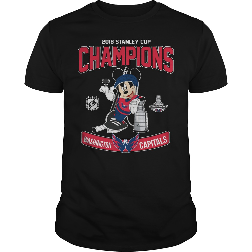 2018 Stanley Cup Champions Mickey Washington Capitals shirt
