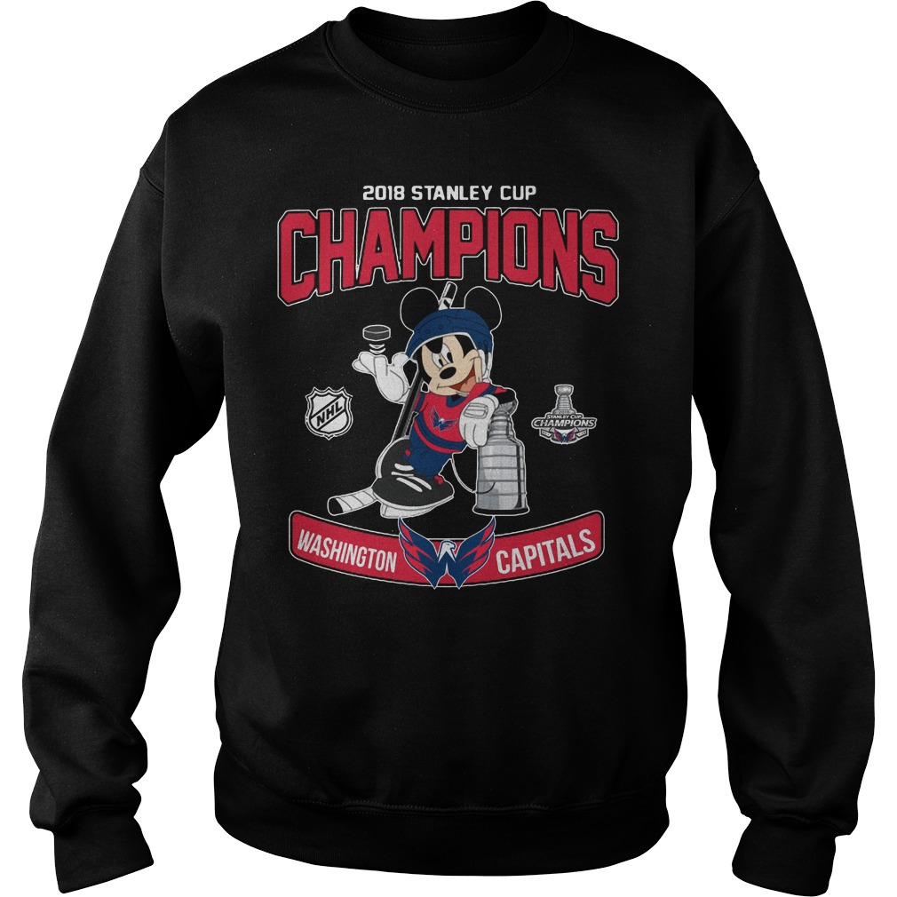 2018 Stanley Cup Champions Mickey Washington Capitals Sweater
