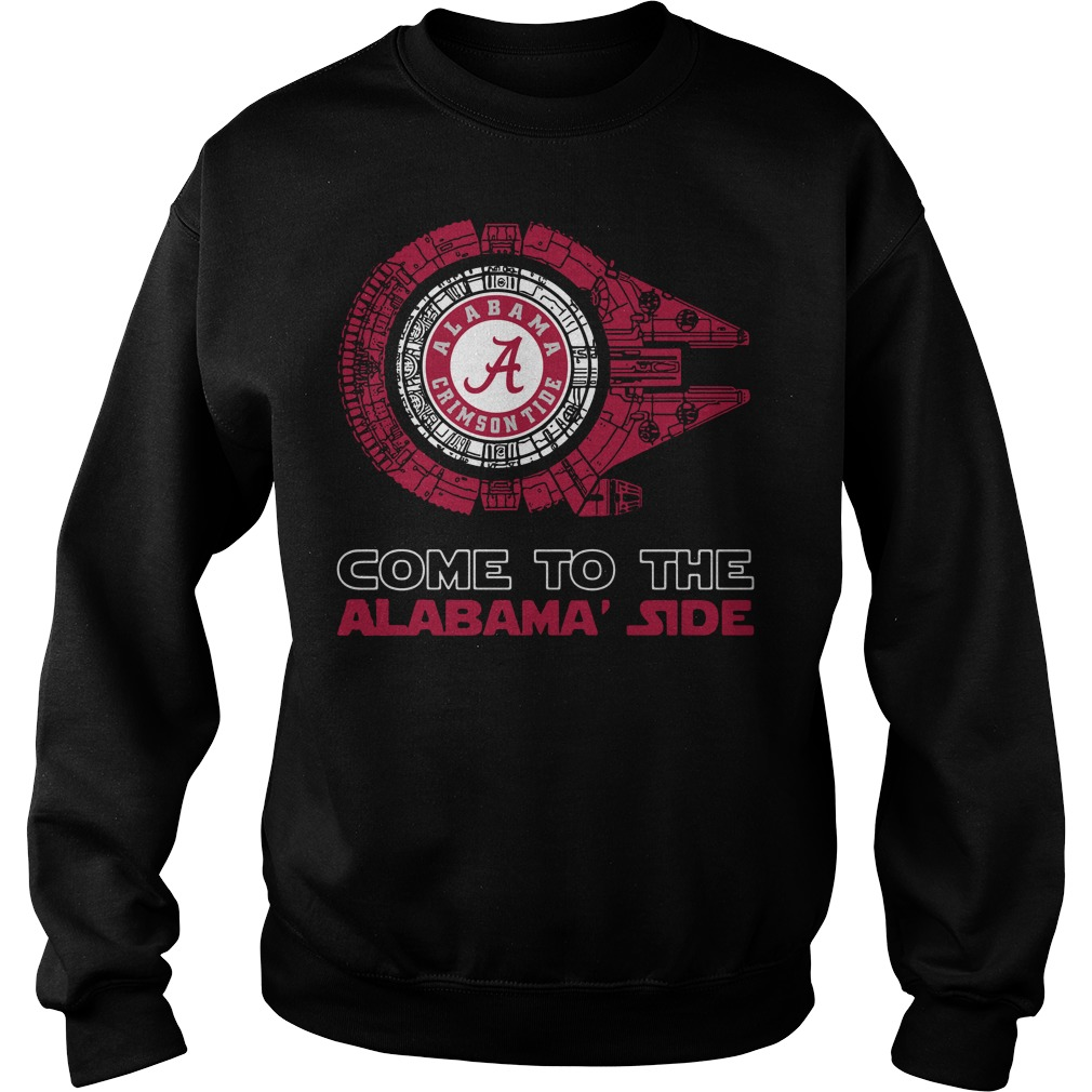Alabama Crimson Tide Millennium Falcon come to the Alabama' side Sweater