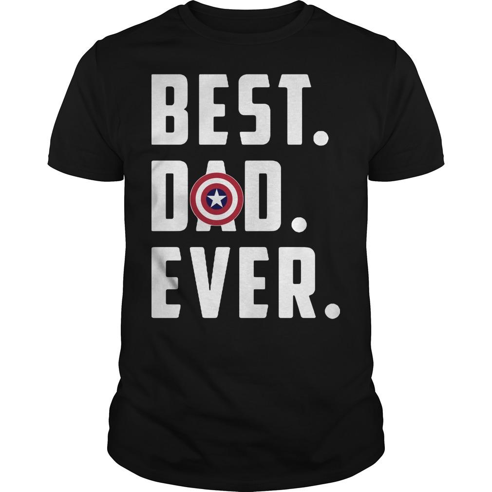 America Captain best dad ever shirt
