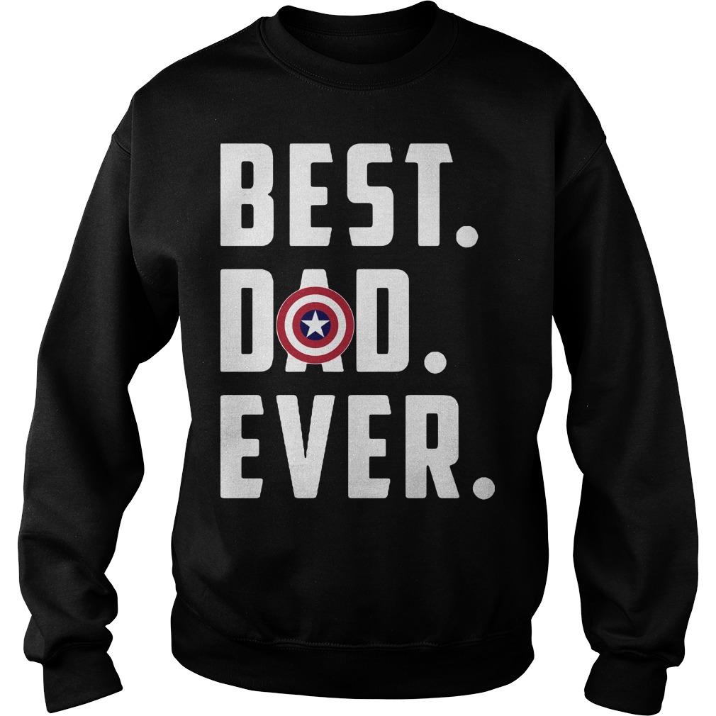 America Captain best dad ever Sweater