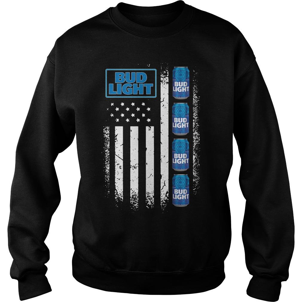 America Flag Bud Light Sweater