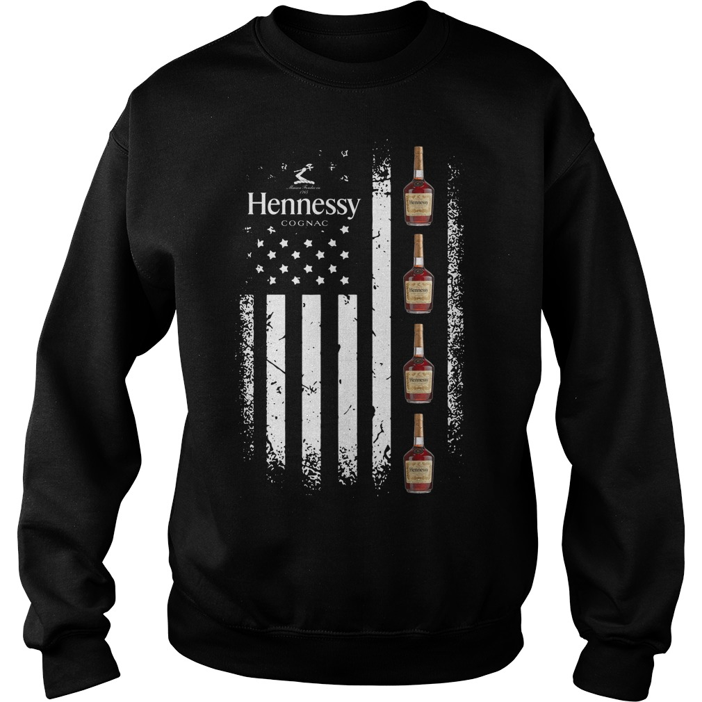 America Flag Hennessy Sweater