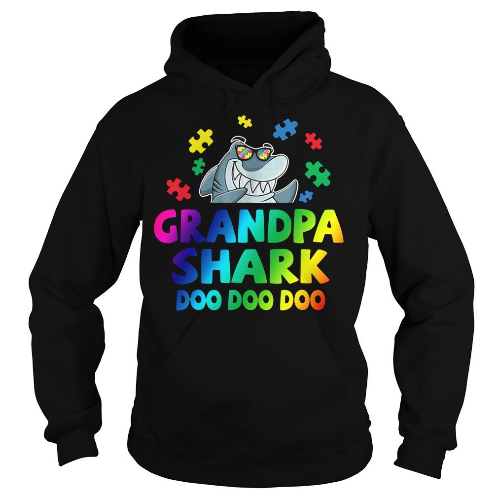 Autism Awareness Grandpa Shark Doo Doo Doo Hoodie