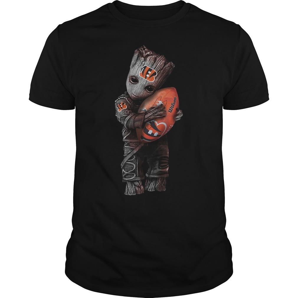 Baby Groot hug Cincinnati Bengals shirt