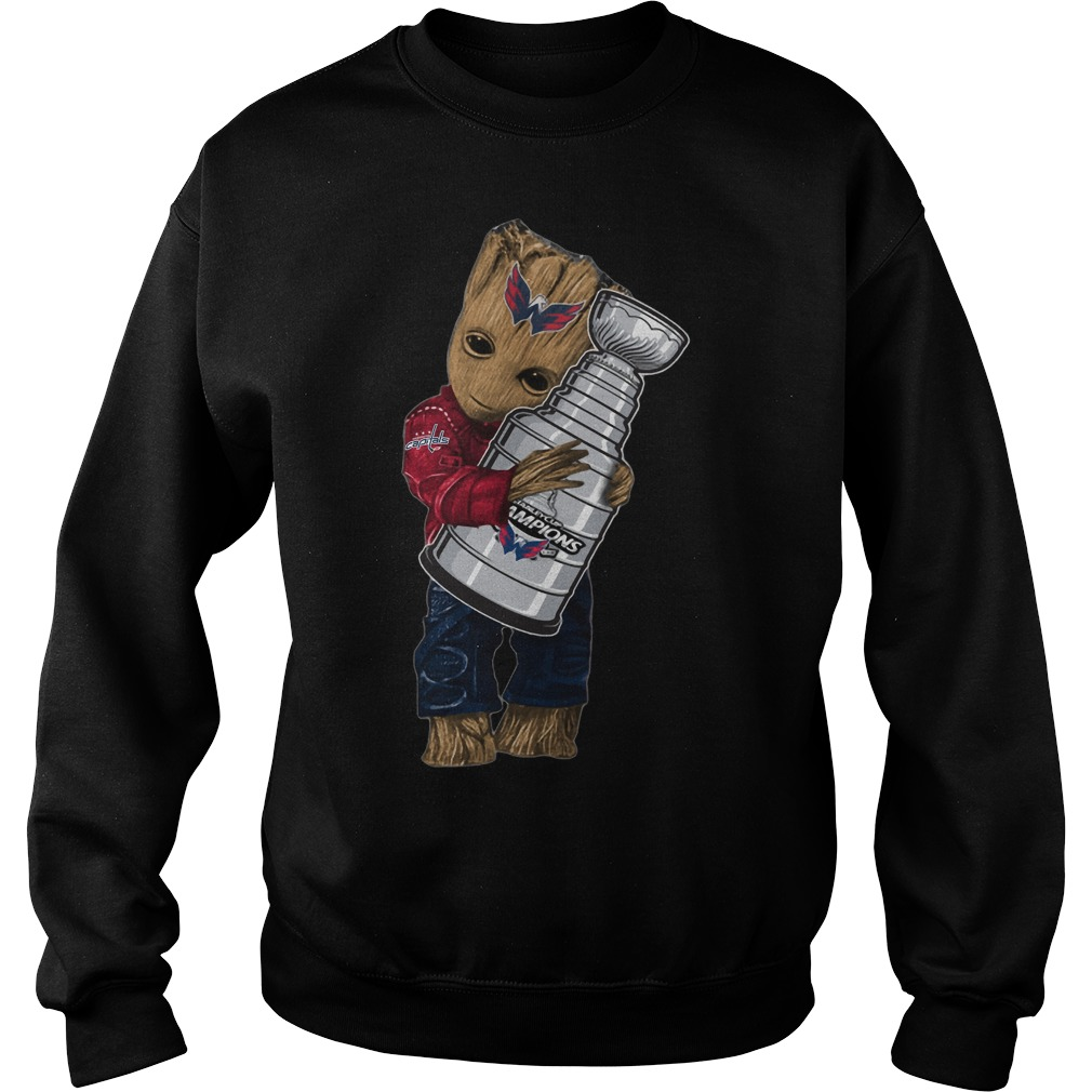 Baby Groot hug NHL Washington Capitals Stanley Cup Sweater