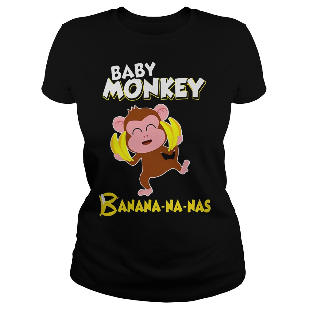 Baby monkey Banana-na-nas Ladies tee