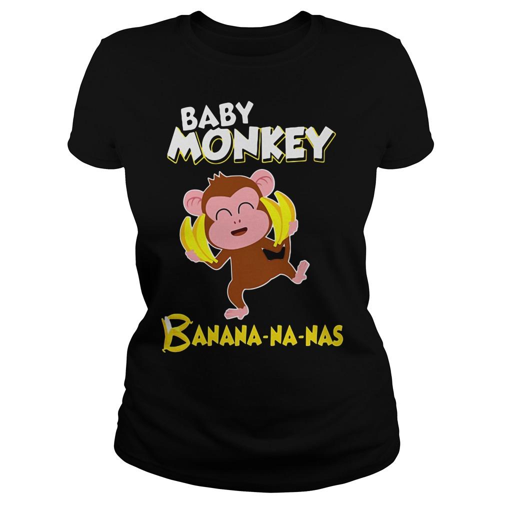 Baby monkey Banana-na-nas Ladies tee