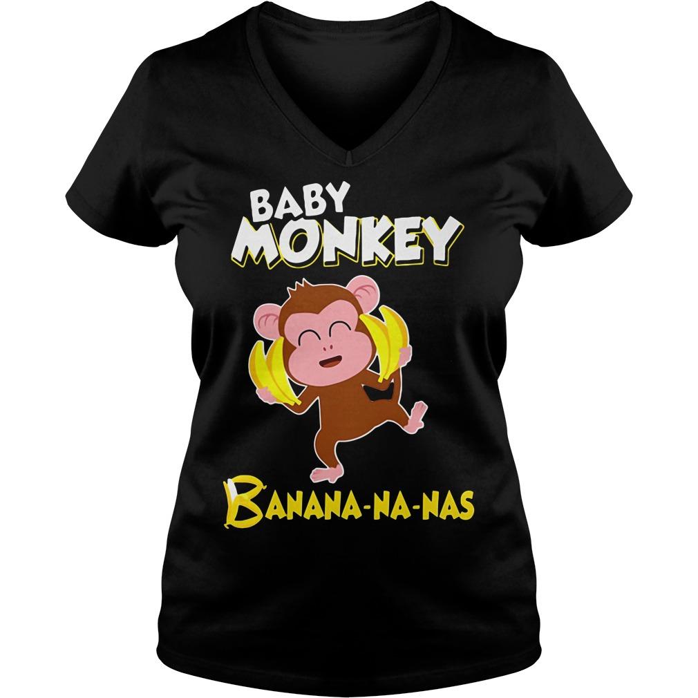 Baby monkey Banana-na-nas V-neck t-shirt