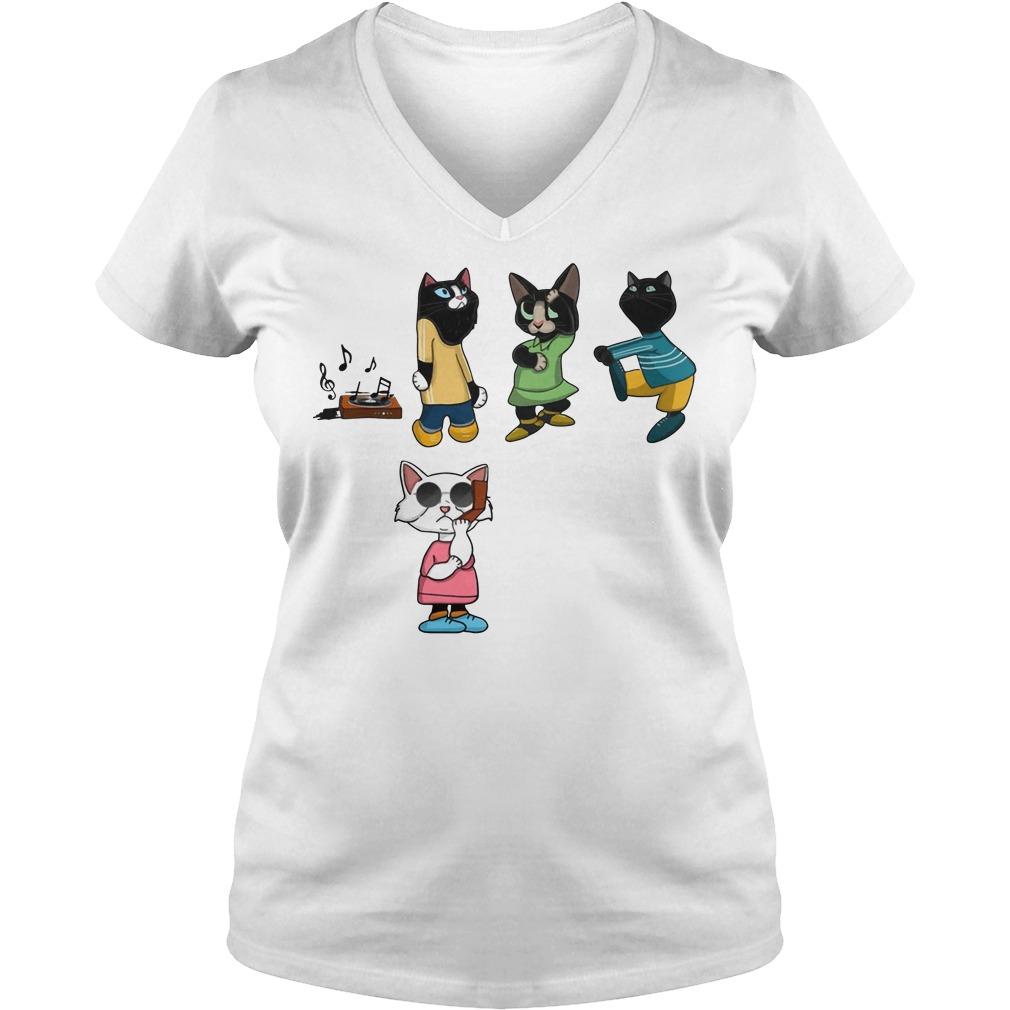 Black Cat BBQ Snitch V-neck t-shirt