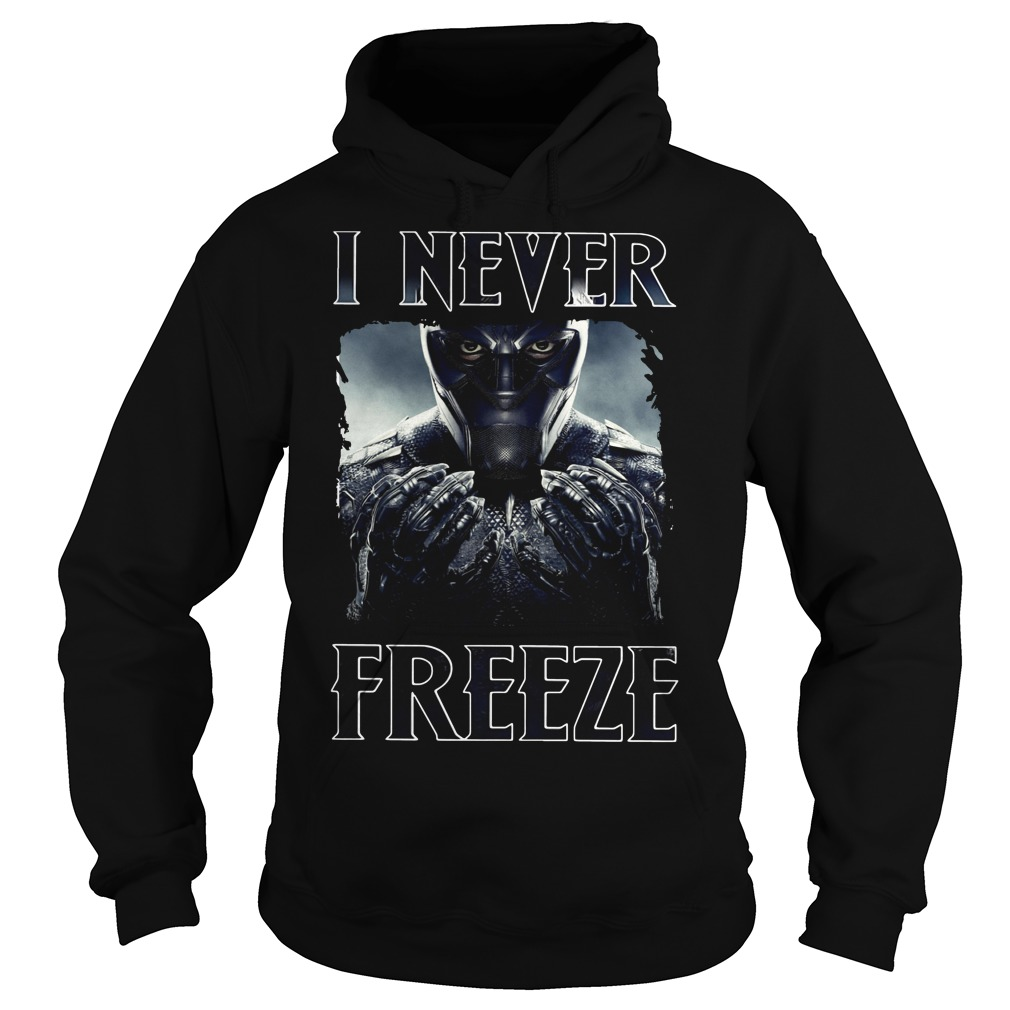 Black Panther I never Freeze Hoodie