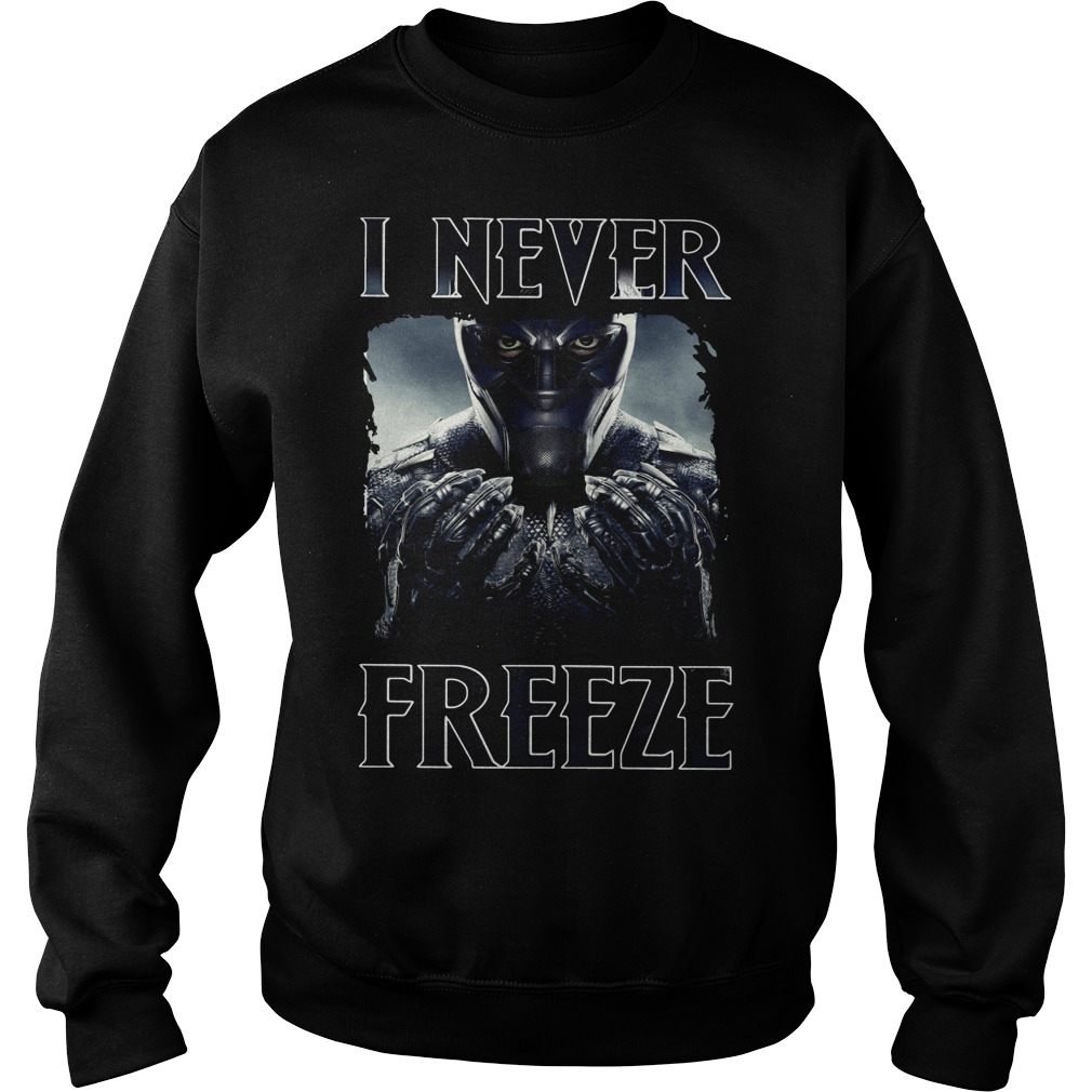 Black Panther I never Freeze Sweater