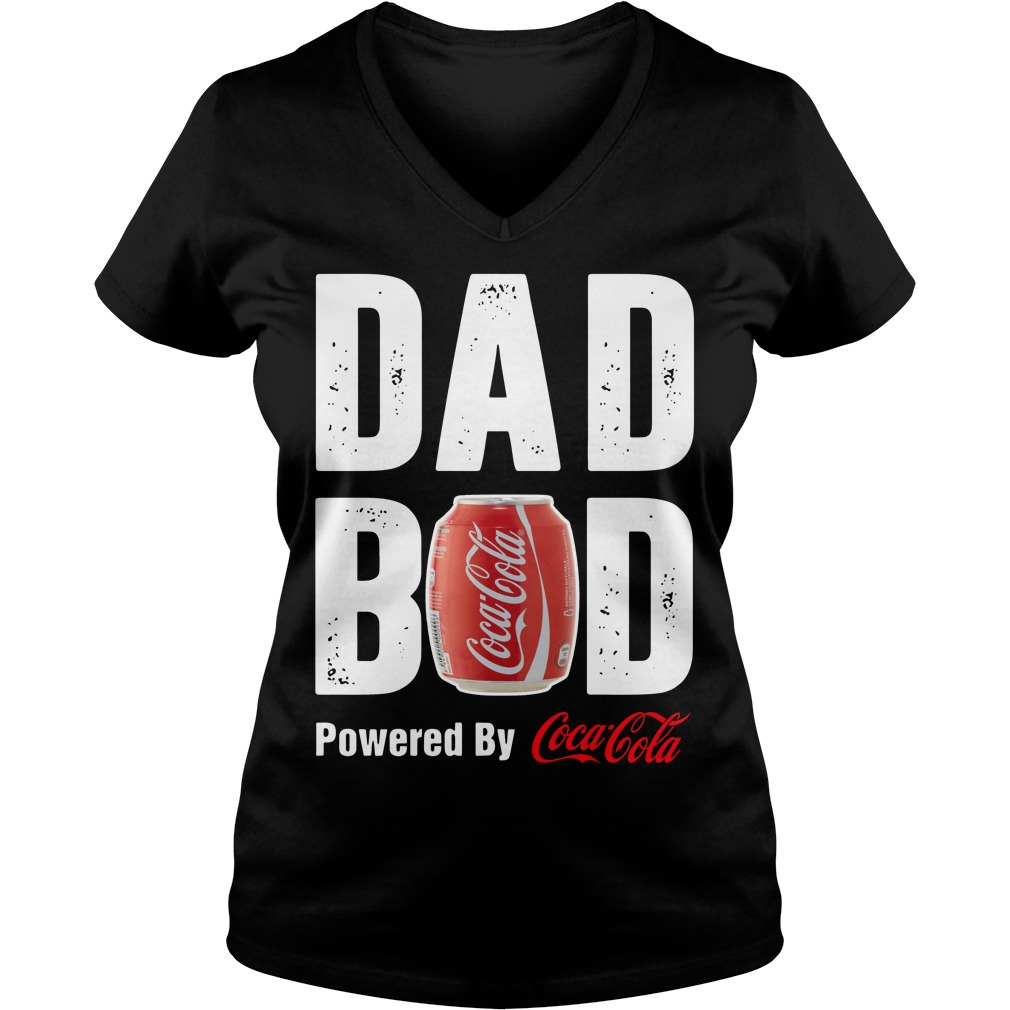 Dad bod powered by Coca Cola V-neck t-shirt