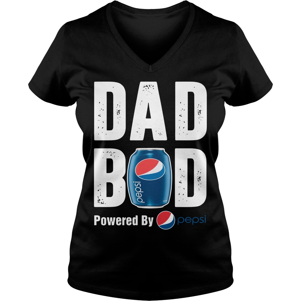 Dad bod powered by Pepsi V-neck t-shirt